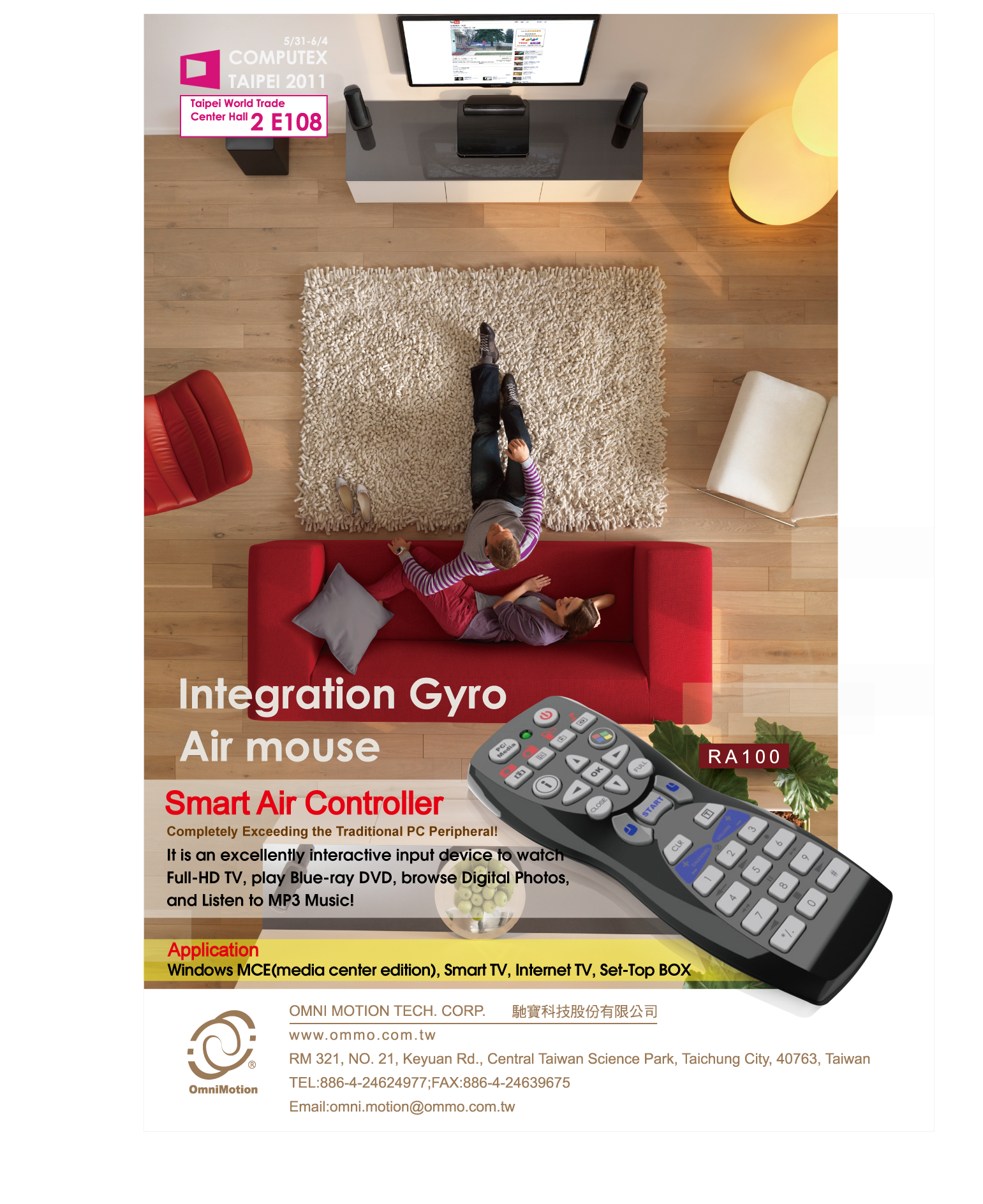 Omni Motion Technology Corporations On Taiwans Largest Ict B2b Air Mouse Keyboard Gyroscope For Smart Tv Integration Gyro Minimum Order Quantity Under 1000 Are Samples Available This Product No